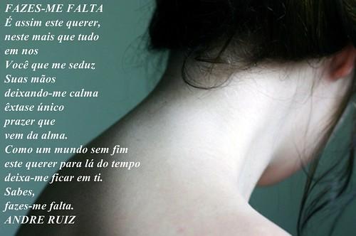 FAZES'ME FALTA by amigos do poeta