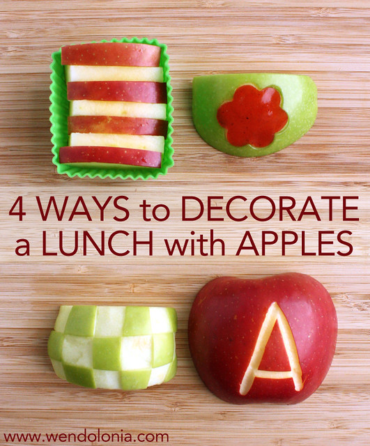 4 Ways to Decorate a Lunch with Apples