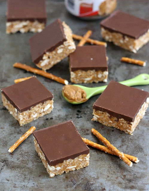Biscoff-Pretzel Rice Krispie Treats