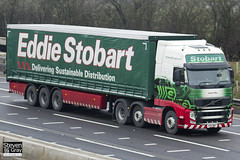 Volvo FH 6x2 Tractor - PX11 BWY - Isobel May - Eddie Stobart - M1 J10 Luton - Steven Gray - IMG_2990