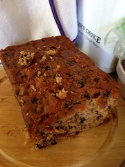 cake(0.0), bread(0.0), pumpkin bread(0.0), produce(0.0), chocolate brownie(0.0), baking(1.0), baked goods(1.0), fruit cake(1.0), food(1.0), dish(1.0), dessert(1.0),