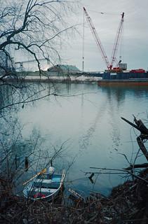 87l109: Clark Maritime Center, seen from Six Mile Island