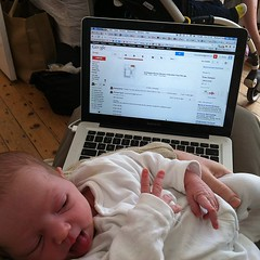 Rocking and emailing. #multitasking