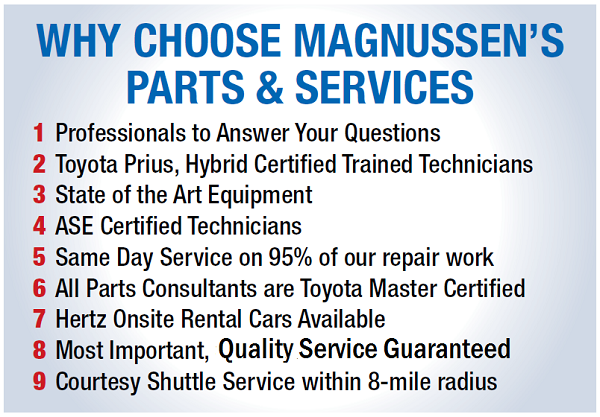 Why to Choose Magnussen Toyota Palo Alto for your car's service and repair?