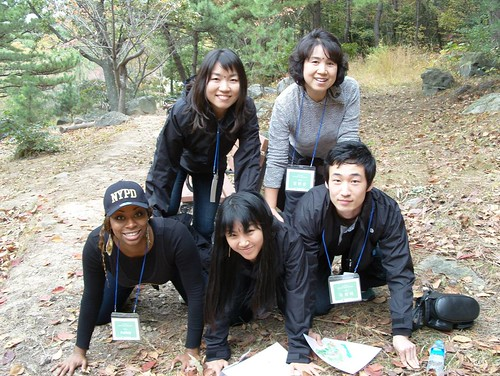 A Korean Culture event Scavenger Hunt on a mountain