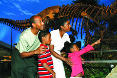 Family Visiting Dinosphere