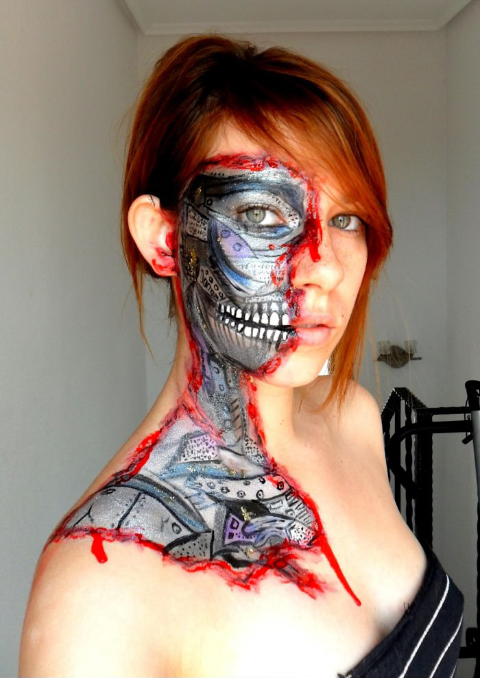 Horror body paint