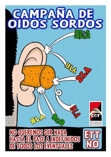 orelles sordes : Campanya cgt seat components