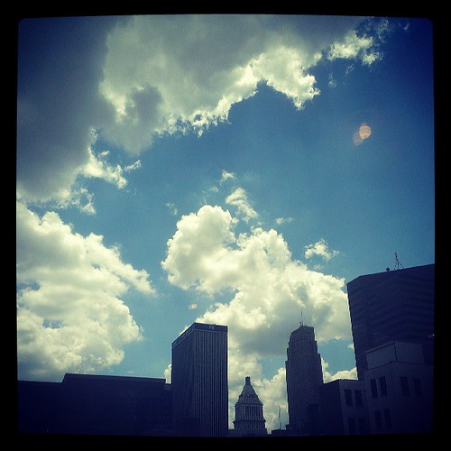 A beautiful afternoon in downtown Cincinnati...