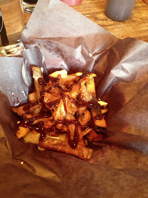 Lou Dawg's pulled pork poutine