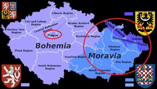 Mapa de la República Checa