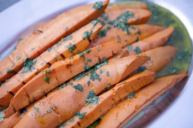 Grilled Sweet Potatoes with Cilantro-Lime Vinaigrette | Spache the ...
