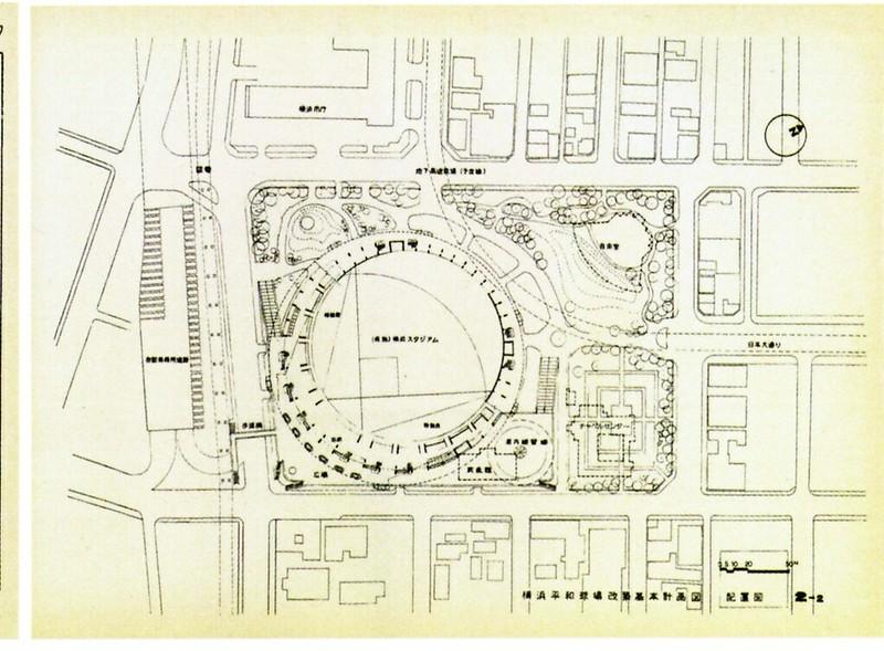 横浜スタジアム計画図