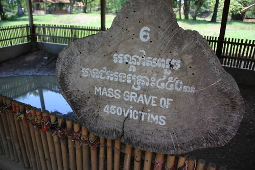 a mass grave of 450 victims