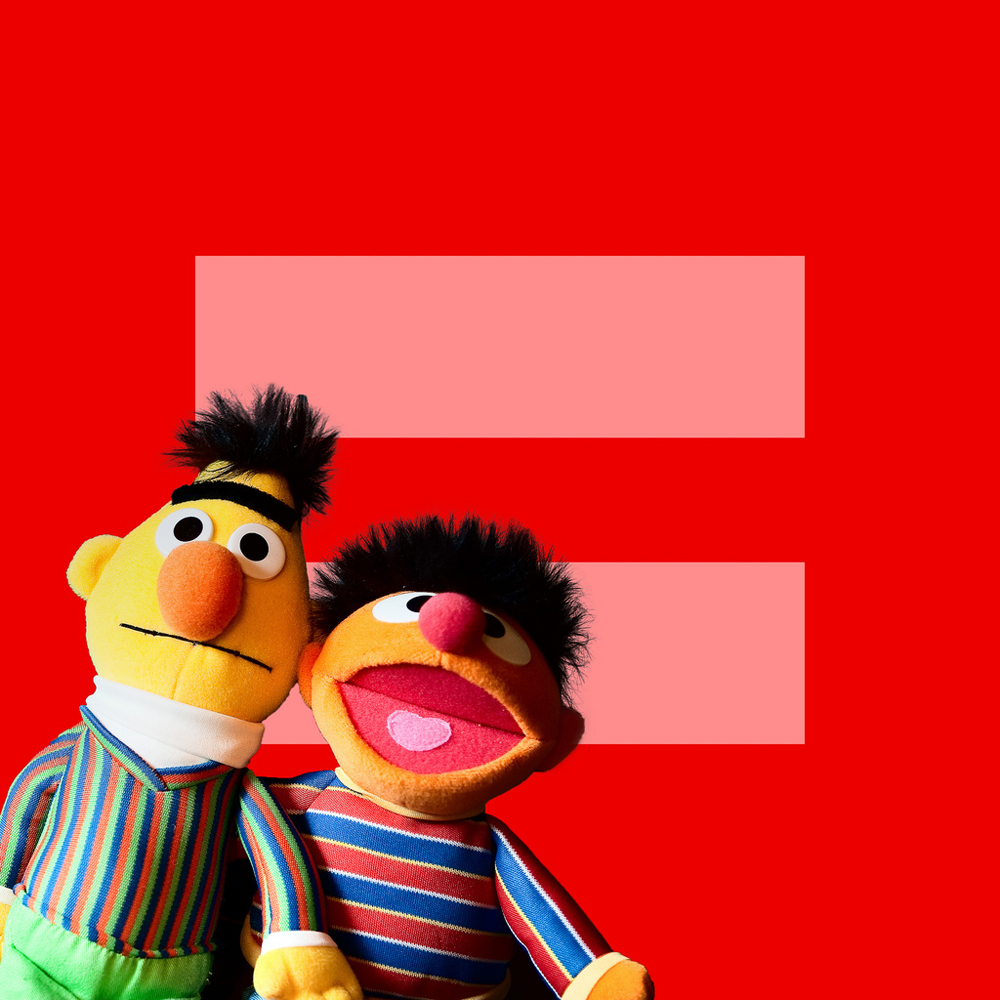 Bert + Ernie for Marriage Equality
