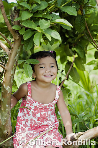 Naima under the guava tree