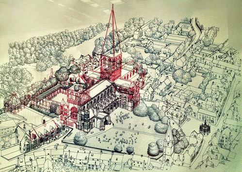 Malmesbury Abbey, 600 years ago