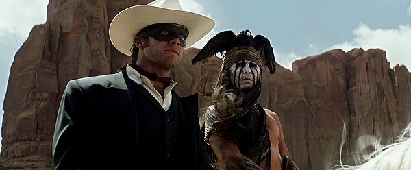Armie Hammer and Johnny Depp are entertainig props in THE LONE RANGER.