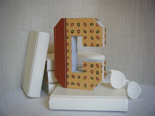 ALPHABET LETTER (C)  Book Art, OoAK, Shabby Chic Home Decor, UPcycled  REcycled REpurposed, Altered Book, Engagement Gift, Bookshelf Decor