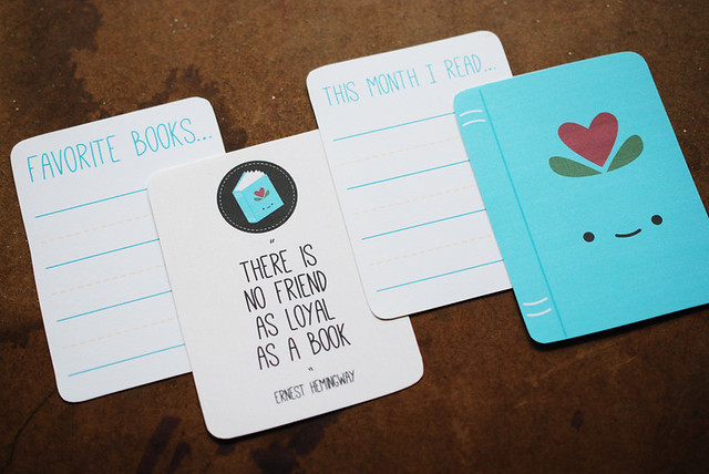 Printable Book Journal Cards