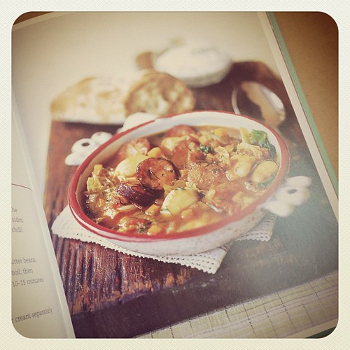 Recipe of the Week. Try this with me make your own version or make it as in Recipe. {Polish Sausage & Butter Bean Soup} Post your pics on IG TAG it #rabbitsROTW and @robindeel so I can see them. Have Fun!  The Recipe is on the Blog. www.therabbitandtherob