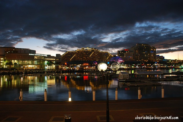 stunning night scenery at darling harbour, sydney