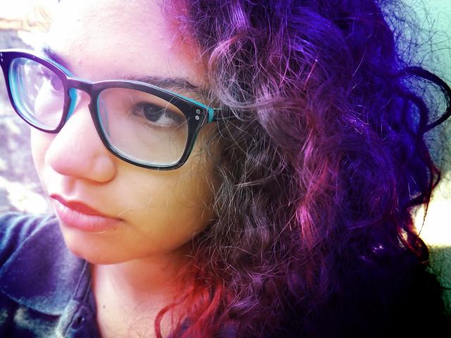 207/365 Sonho em ter o cabelo azul ❤