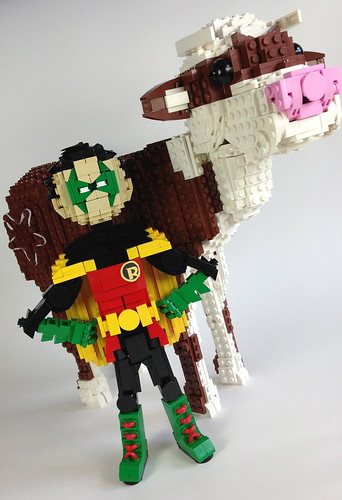 Bat-Cow and Robin