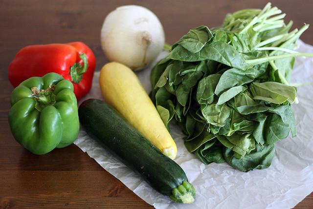 garden veggie burritos