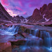 Titcomb Basin Falls Sunset by Chip Phillips