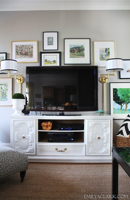 Wall Sconces Near Tv : The Art of Hanging Art - Emily A. Clark