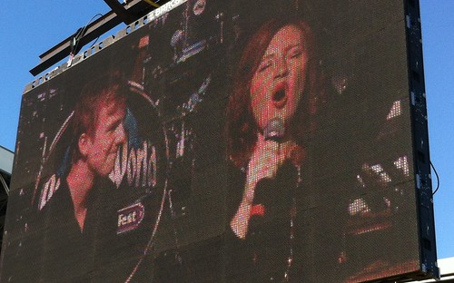 Jumbotron screen at Rock the World