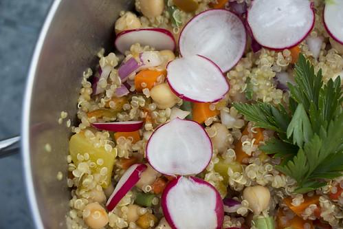 Slaatje met quinoa - Salad with Quinoa