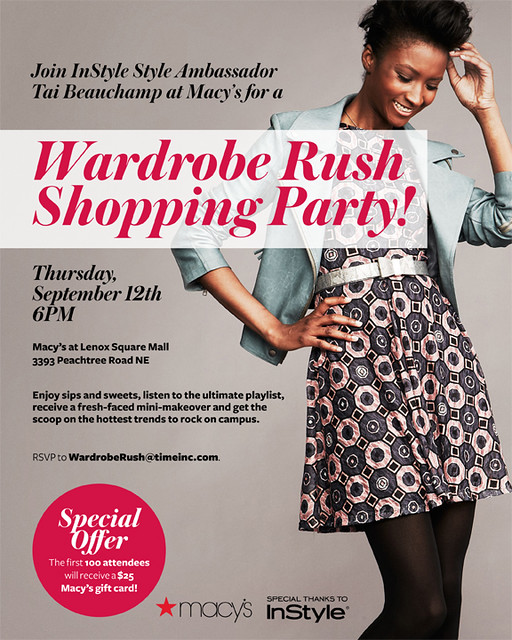 Macy's Wardrobe Rush Shopping Party Invite