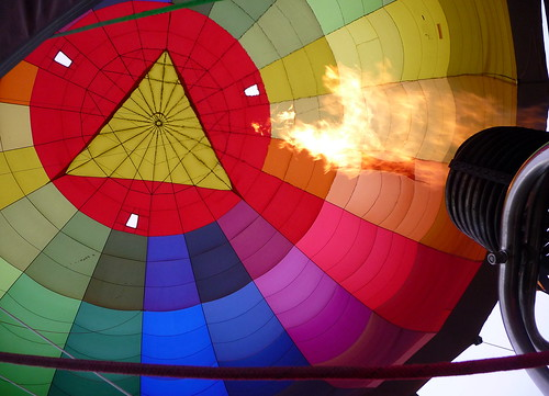 Hot Air Balloon firing by Ginas Pics