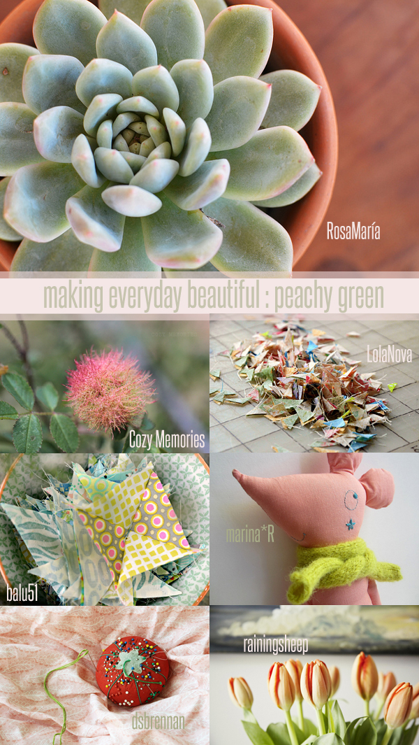 making everyday beautiful : peachy green | Emma Lamb
