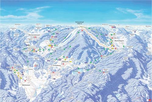 Ochsenkopf - mapa sjezdovek