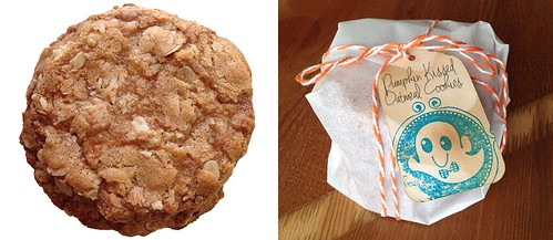 Pumpkin Kissed Oatmeal Cookies by Heather Says