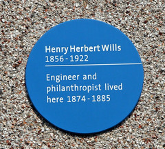 Photo of Henry Wills blue plaque