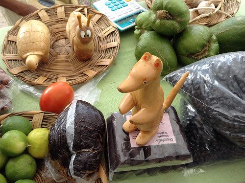 Lucia's Table of Chocolate and Handcarved Goodness (See the Comadreja!), Tianguis Pochote Xochimilco @ Oaxaca 10.2013