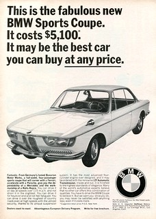 1966 BMW Sports Coupe Advertisement Road & Track October 1966