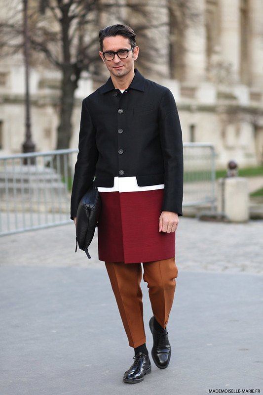 Street Style of Simone Marchetti at Paris fashion week