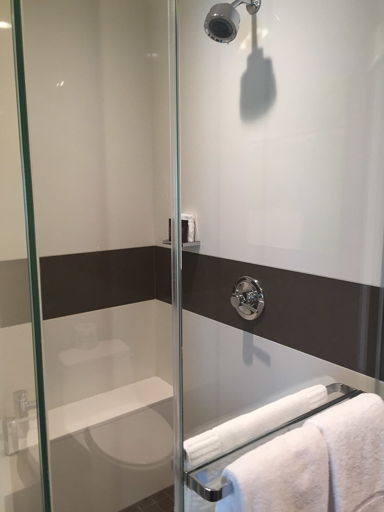 Standalone shower at Vdara Deluxe Suite