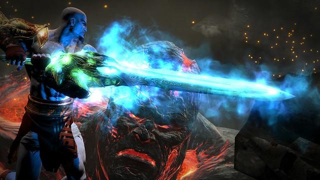 Геймплейное видео God of War III Remastered