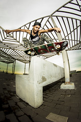 Ollie over the bench