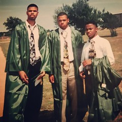 Since we're celebrating our 20th Class Reunion this weekend I think this is a fitting #TBT pic! #ClassOf1996 #20YearReunion #StillHanging #DesotoHighSchool #BigMet #Red #ERand