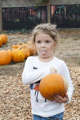 Lena at the Pumpkin Patch 12