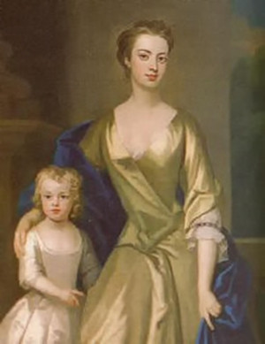 Lady Anne Churchill (1682-1715), daughter of the 1st Duke of Marlborough and 2nd spouse of Charles Spencer, 3rd Earl of Sunderland, and her daughter Diana.
