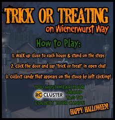How to Trick or Treat on Wienerwurst Way