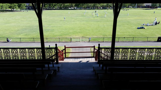 View from the Brunswick Street Oval Grandstand
